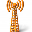 Wireless communication tower — Stock Photo #4487514