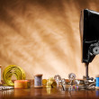 Copy space image of sewing tools — Stock Photo #5981999