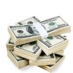 Isolated Stacks of Money — Stock Photo #3881738