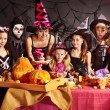 Family on Halloween party with children. — Stock Photo #13463735