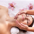 Young woman on massage table in beauty spa. — Stock Photo #3901188