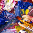 Close up of paint mixed on palette. — Stock Photo #6256698