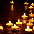 Group of candles on black background. — Stockfoto #7841059