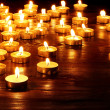 Group of candles on black background. — Stock Photo #9076457