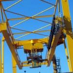 Crane at port — Stock Photo #4546215