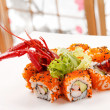 Sushi with see cancer — Stock Photo #12244821