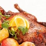 Christmas roast goose — Stock Photo #25957511