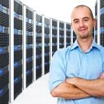 Mann im datacenter — Stockfoto #4822533