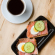 Tasty sandwiches and coffee — Stock Photo #1056366