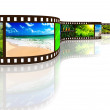 Photo film with reflection — Stock Photo #9778521