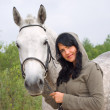 Beautiful girl and horse. — Stock Photo #1118042