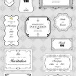 Set of ornate vector frames and ornaments with sample text. Perf — Stock Photo #5747004