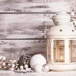 Cristmas lantern with snow — Stock Photo #31853005
