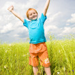 Happy boy enjoy on the meadow — Stock Photo #4710964