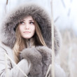 Young woman winter portrait — Stock Photo #1348822