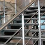 Modern metallic stairs — Stock Photo #1353750