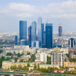 Modern skyscrapers at Moscow City, Russia — Stock Photo #9738932