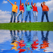 Group of with thumbs up — Stock Photo #1571551