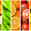 Collage of many fruits and vegetables — Stock Photo #6590749