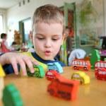 Child in kindergarten — Stock Photo #3540299