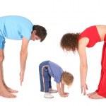 Family training fitness — Stock Photo #7438808