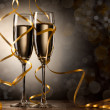 Pair glass of champagne — Stock Photo #7635168