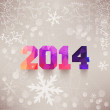 Numbers, 2014, colorful numbers. Elegant Christmas background wi — Stock Photo #39911699