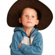 Surprise child in a hat — Stock Photo #1280087