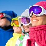 Company of friends on ski holiday — ストック写真 #35184563