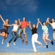 Party on beach — Stock Photo #4036713