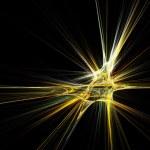 Fractal star burst on black background — Stock Photo #2918757