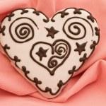 Heart spice cake — Stock Photo #2674976