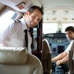 Pilot Entering Private Jet — Stock Photo #36762321