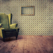 Old fashioned armchair — Stock Photo #6756909
