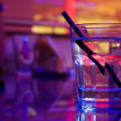 Glass of alcohol drink in the night club — Stock Photo #1706390