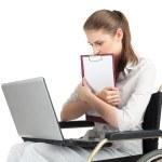 Businesswoman on wheelchair — Stock Photo #3320715