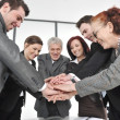Group of business with hands together for unity and partnership — Stock Photo #10422084