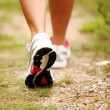 Female legs jogging on a trail — Stock Photo #12794381