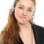 Young female customer service represent — Stock Photo #2021906