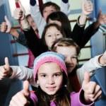 Happy children group in school — Stock Photo #1671638