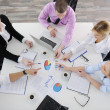 Group of young business at meeting — Stock Photo #9347642