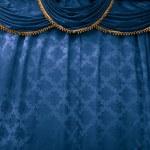 Bluestage curtain — Stock Photo #1657146