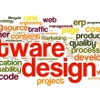 Software design concept in tag cloud — Stock Photo #14856403