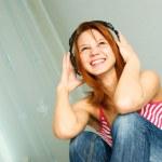 Girl listening ot the music — Stock Photo #1826488