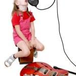 Girl in audio studio — Stock Photo #1862491