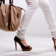 Legs and bag — Stock Photo #1823465
