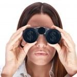 Looking through binocular — Stock Photo #1821336