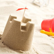 Sand castle on the beach — Stockfoto #2211387