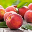 Fresh peaches — Stock Photo #11210915