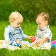 Two children playing in park — Stock Photo #2764086